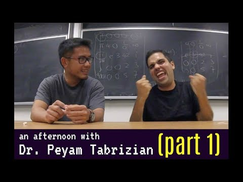 An afternoon with Dr. Peyam, (part1, HE LOVES TEACHING!)