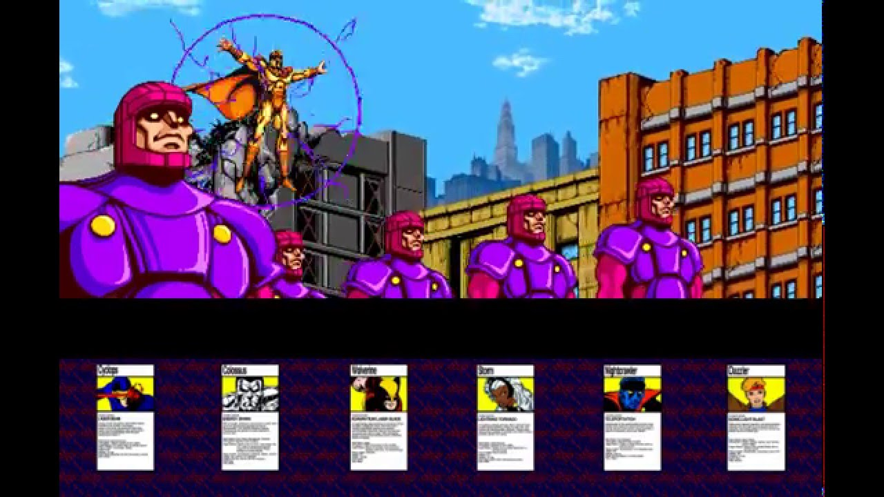 X Men Arcade 1992 Attract 6 Player Dual Screen 60 Fps