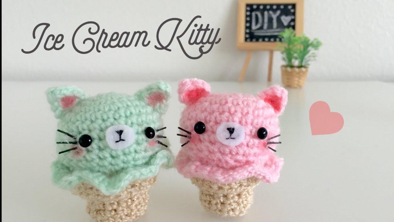 Amigurumi Ice Cream Tutorial : DIY Kitty Ice Cream Amigurumi Crochet Tutorial - YouTube