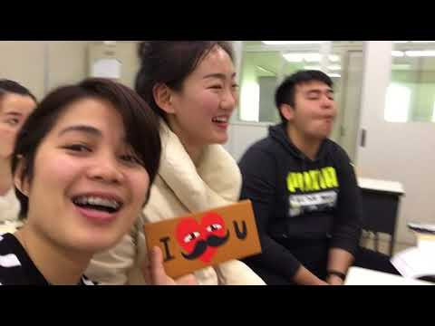 Foreign students celebrate Valentine's Day (Japanese Language School)