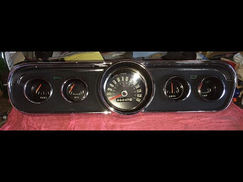 65 Mustang GT Instrument Cluster