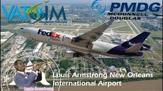 PMDG MD11 on Vatsim - New Orleans Louis Armstrong to Memphis