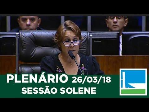 PLENÁRIO - Solene - Dia Mundial de Luta contra a Tuberculose - 26/03/2018 - 10:12