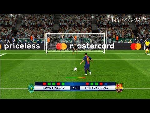 SPORTING LISBON vs FC BARCELONA | UEFA Champions League 17/18 | Penalty Shootout | PES 2017