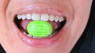 ASMR Chewing Watermelon Gum Love ScorpioAnnYT
