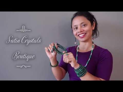 Wear Dark Malachite Bracelets - Satin Crystals