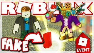 FAKE EGGMIN 2018 EGG TROLLING!! 'THEY BELIEVED ME! (ROBLOX Egg Hunt 2018 Event)