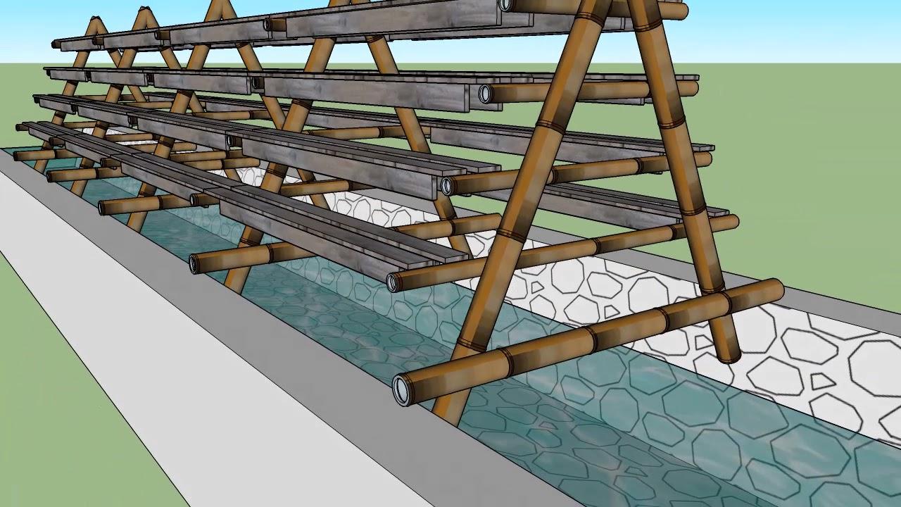 Rancangan Rak Bambu Hidroponik Youtube