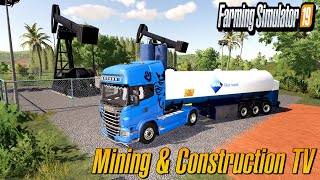 CineMatiC Produce Tar From Crude  Mining And Construction Map Economy Map Farming Simulator 2019