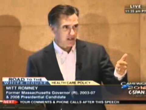 Romney Defends Mass. Health Plan: 'Right For The People Of My State'  (Video Excerpts)