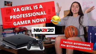 STEPH IS A PROFESSIONAL NBA 2K BASKETBALL GAMER NOW!