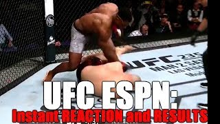 UFC ESPN: Reaction and Results