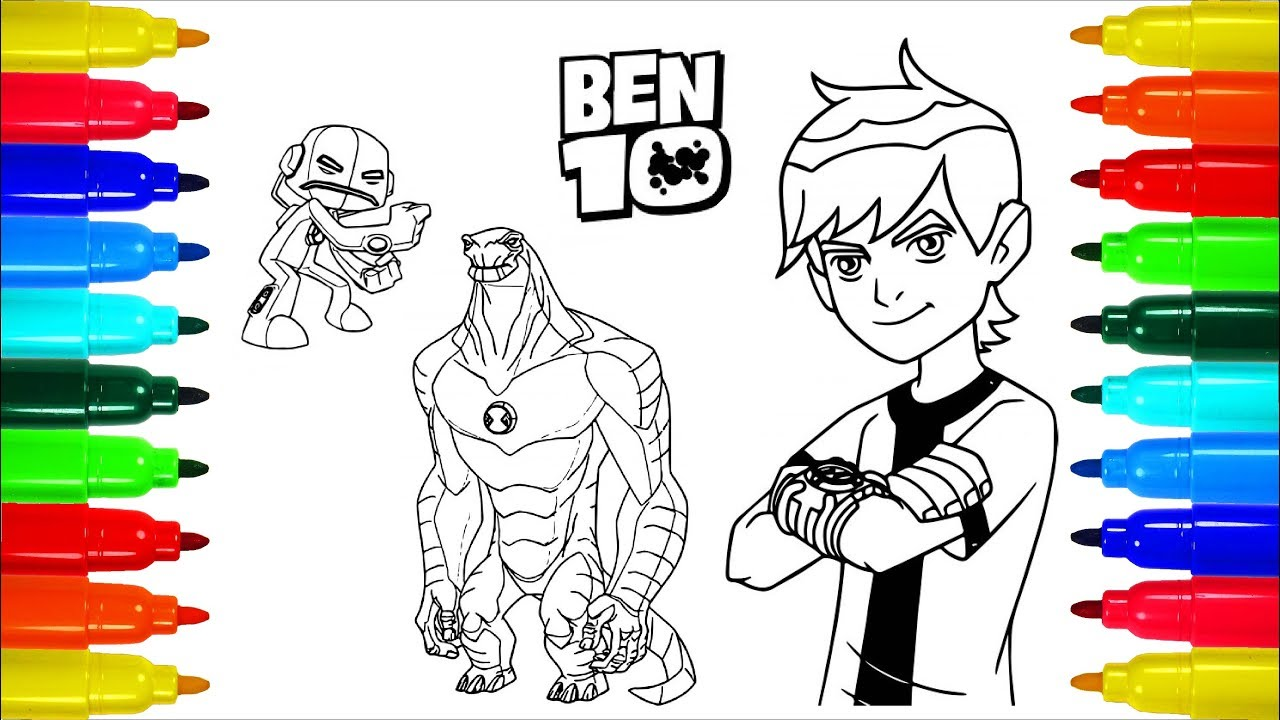 BEN 10 Coloring Pages | Colouring Pages for Kids with Colored ...