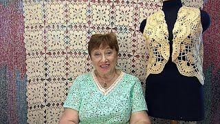Болеро \Японское\. Мастер-класс по вязанию крючком от О. С. Литвиной.