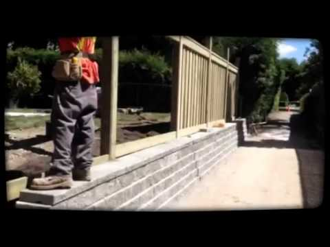Interloc Kings Inc Retaining Wall Fence Project Youtube