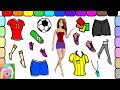 Play Dress Up With Barbie | Barbie Plays Soccer | Learn Names Of Colors And Clothes