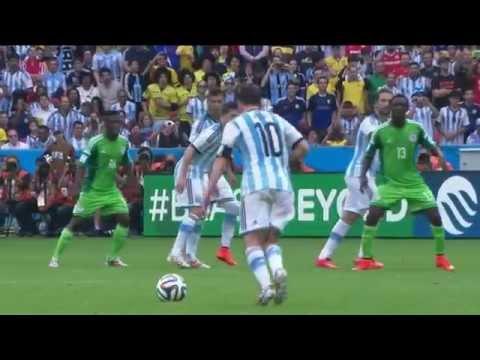 Golaço de falta do Messi na copa do mundo 2014