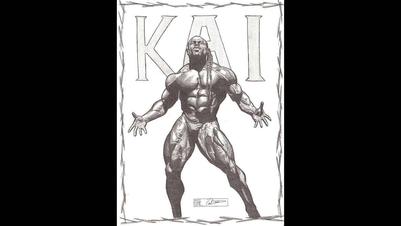 Kai greene a dredfunn original photorealistic drawing for Kai greene painting