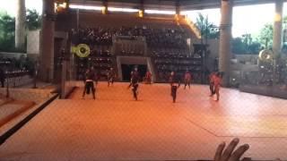 Mayan ball game Xcaret Espectacular in Mexico.