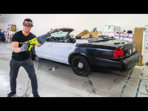 I CUT THE ROOF OFF A POLICE CAR!!!