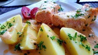Lachs überbacken mit Kartoffeln oder Reis Thermomix® TM5 / TM6