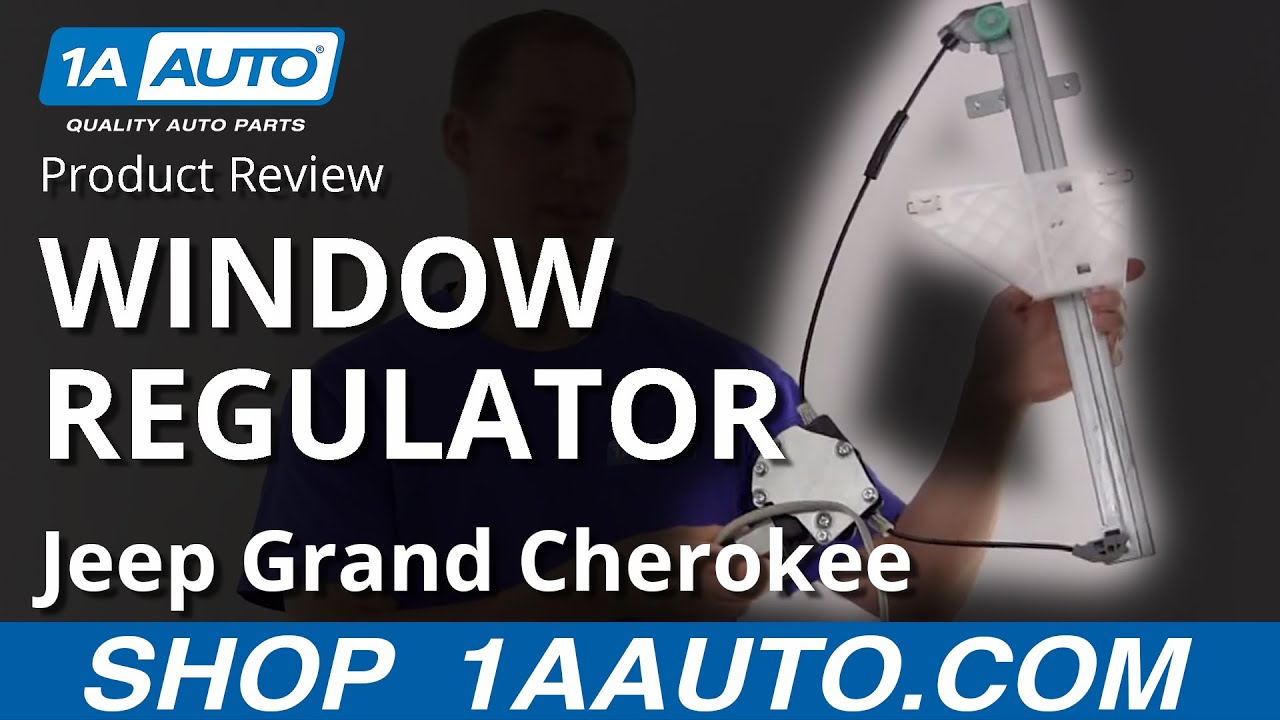 medium resolution of 1awrg00534 jeep grand cherokee power window regulator drivers side rear youtube