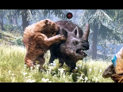 SABERTOOTH VS RHINO in FAR CRY PRIMAL