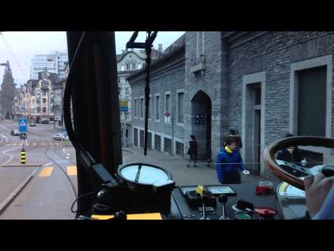 VBZ ZÜRICH TRAM: Albisgütli - Escher-Wyss-Platz [HD]
