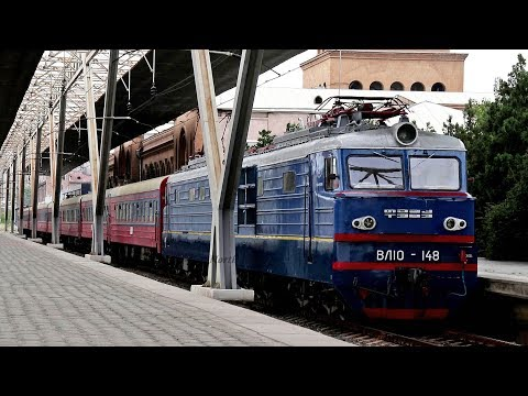 [ВЛ10] Armenia Night Train #202 For Batumi | Yerevan Railway Station