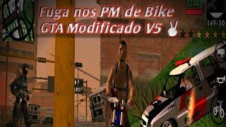 Gta San Andreas de Android Modificado Mod V5 Dando fuga nas polícias de bike 😎✌️