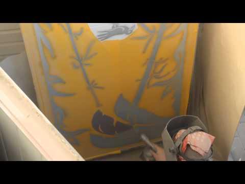 Видео урок! Ещё одна идея использования Пескоструйного рисунка в вашем доме!