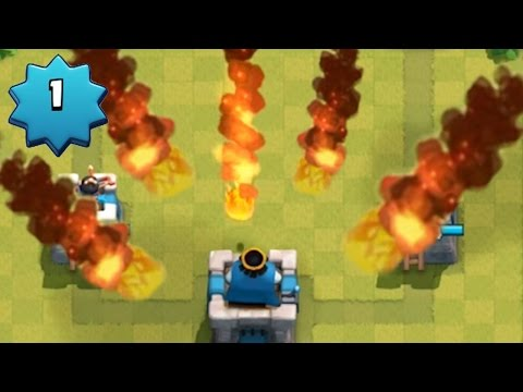 LEVEL 1 ACCOUNT NOOB FIREBALLS EVERYWHERE | Clash Royale