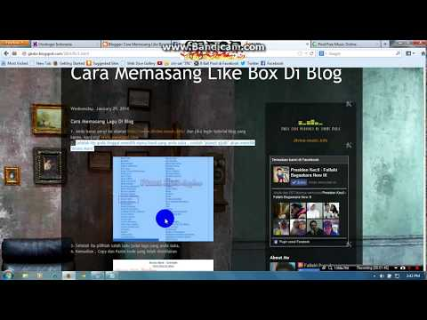 Cara menambahkan musik di Blog.
