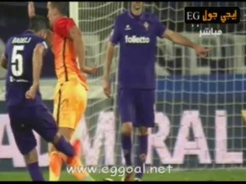 اهداف مباراة فيورنتينا وروما 1-0 fiorentina vs as roma