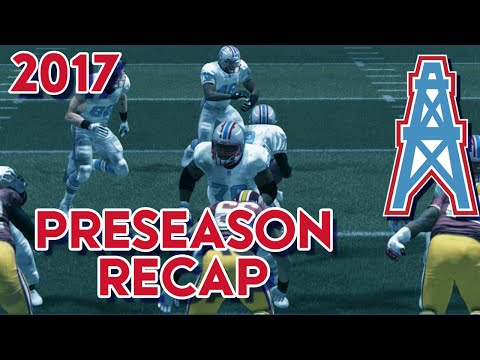 Madden 15 Franchise Mode - Houston Oilers | Season 4 Preseason Recap
