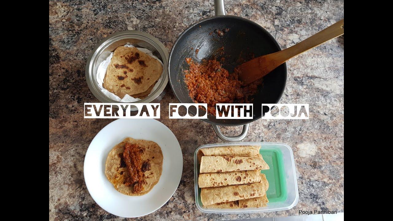 Everyday food with Pooja: Chapathi and tomato chutney ...