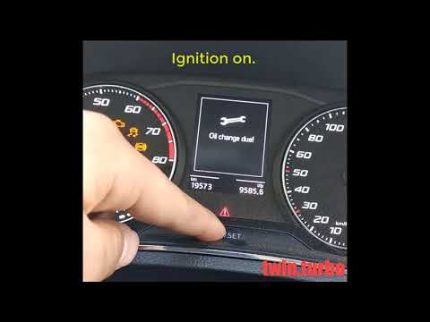 Oil Change Due ! / Reset Oil Change Interval / Reset Inspection Interval SEAT Ibiza FR