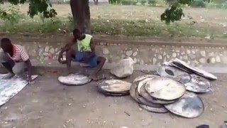 Haiti Metal Art, Making Recycled Steel Wall Art,  It