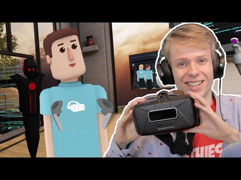 GETTING SOCIAL IN VR! | AltspaceVR (Oculus Rift DK2 + Leap Motion)