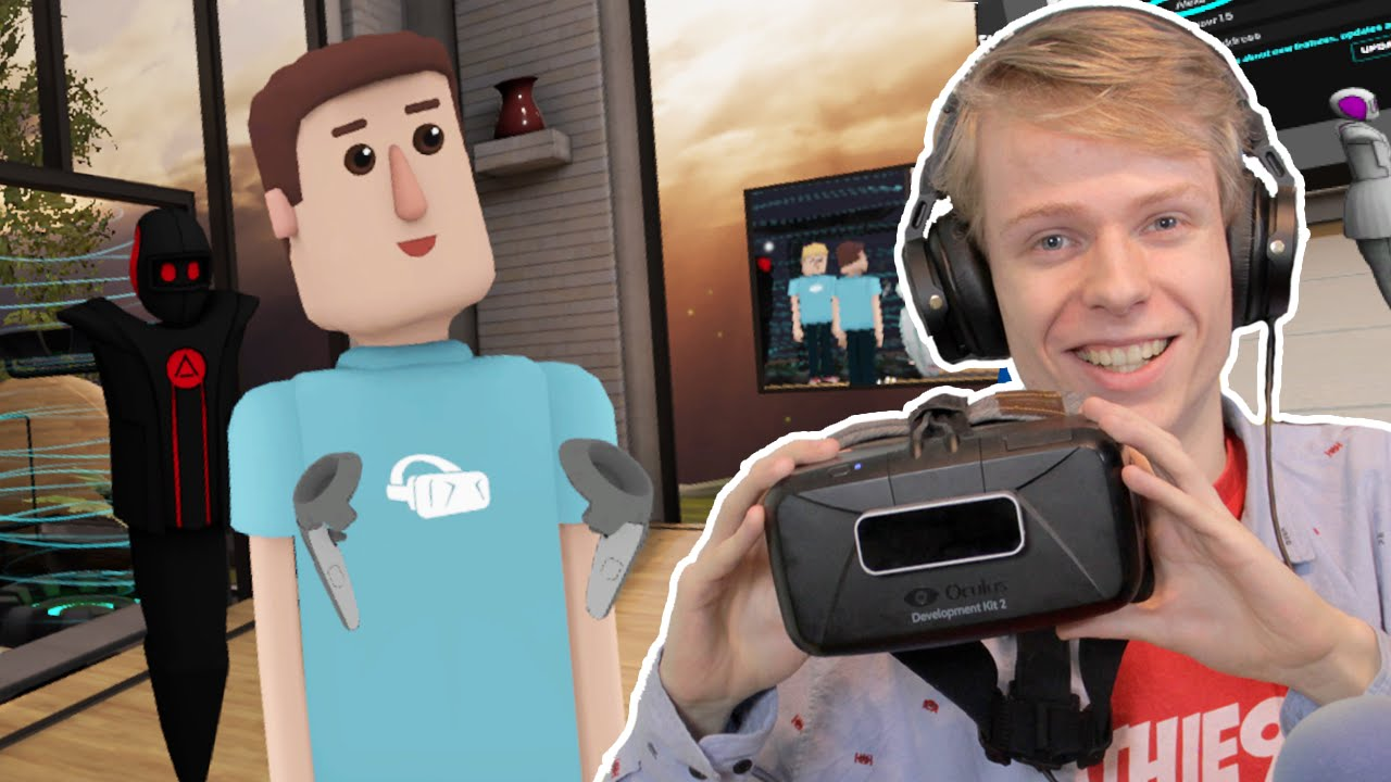 GETTING SOCIAL IN VR! | AltspaceVR (Oculus Rift DK2 + Leap Motion)
