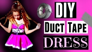 DIY DUCT TAPE HOMECOMING DRESS - Maddie Ryles