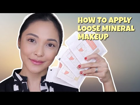 ELLANA MINERAL COSMETICS | HOW TO APPLY LOOSE MINERAL MAKEUP (ENG SUB)