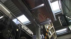 Dacharbeitsplatz zur effizienteren Wartung von Bussen