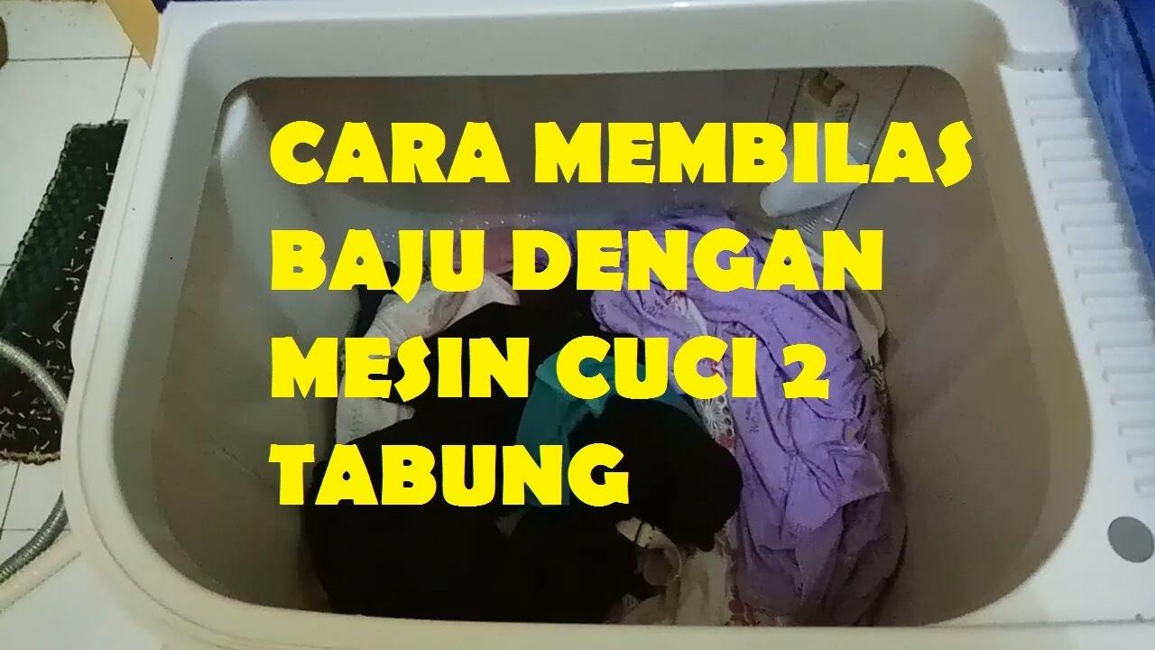 begini cara membilas dengan mesin cuci 2 tabung aqua qw 770xt sanyo