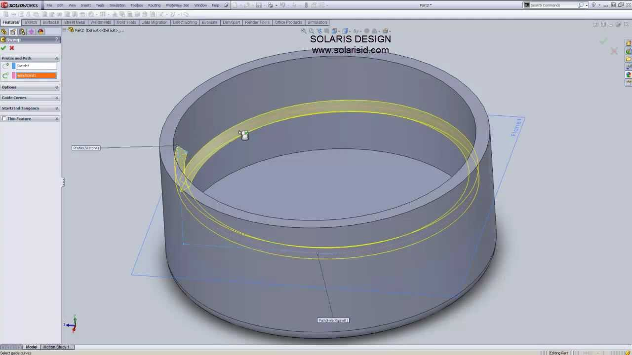 How to make screw threads in SolidWorks by Solaris Design