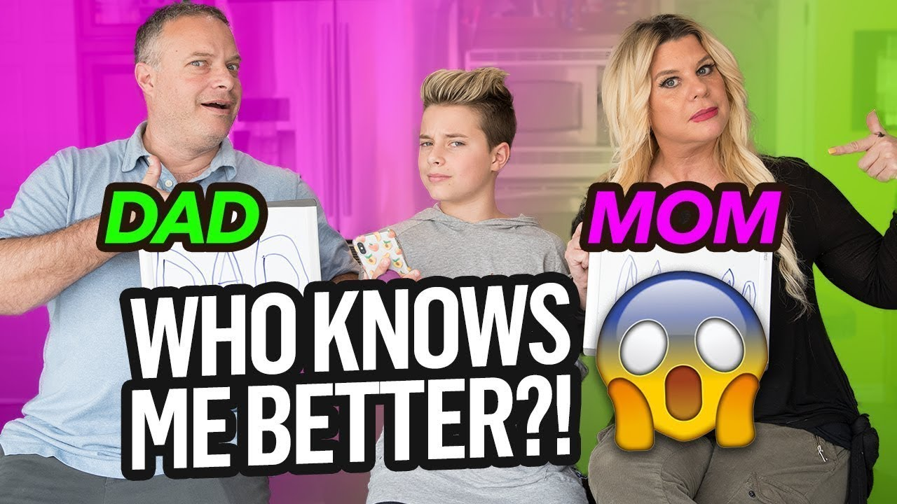 Who KNOWS Me Better CHALLENGE Mom vs Dad  Gavin Magnus