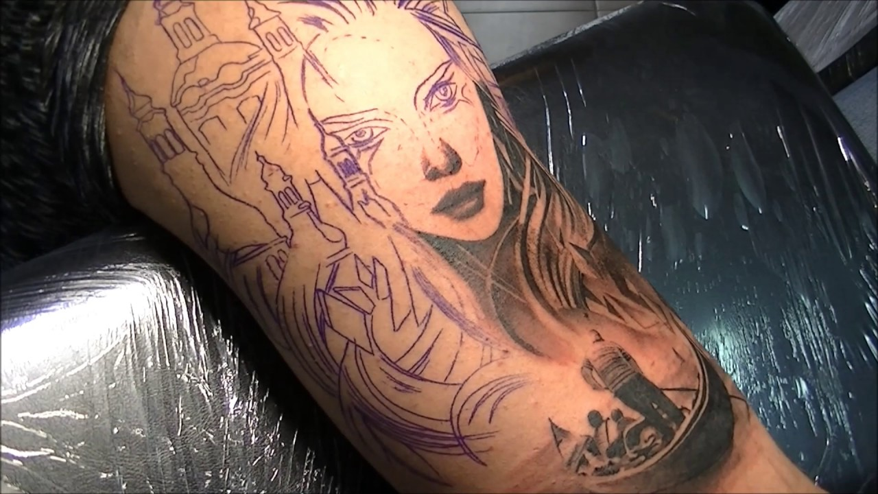 Real Tattoo: Tattoo (time Lapse And Real Time) Part 1