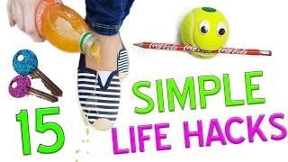 15 Simple Useful Life Hacks HOW TO!