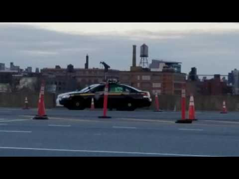 New Colors For NYS Police Operated TBTA Police On Checkpoint Patrol On The Triborough Bridge