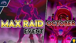 NEW OCTOBER MAX RAID EVENT UPDATE Pokemon Sword and Shield DLC Isle of Armor